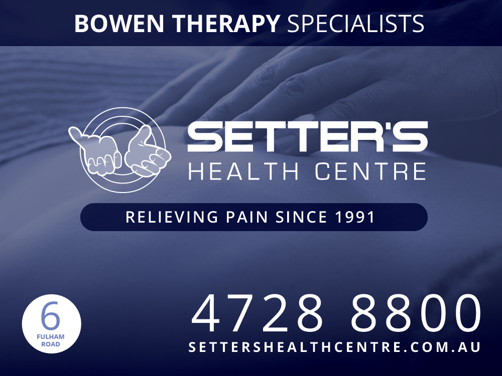 Setter's Health Centre Bowen Therapy Contacts, Setter's Health Centre The Pain Relief Specialists Of Townsville EST 1991, Setter's Health Centre COVID-19 REOPENING 1ST OF JUNE 2020, Bowen Therapy For The Relief Of Stress In Townsville, Coronavirus Stress - Anxiety & Vitamin B Loss 2020, Bowen Therapy Townsville FAQ By Benjamin Setter, Bowen Therapy Testimonials Setter's Health Centre Townsville, Defence Force Personnel And Families Of Townsville, Setter's Health Centre Costs, Setter's Health Centre Health Concerns Townsville, Setter's Health Centre Golden Rules, Bowen Therapy Seated Treatment For Pain Relief At Setter's Townsville, Benjamin Setter & Gerard Black 10 09 2019, Plantar Fasciitis Foot Pain, Temporomandibular Joint TMJ Pain Relief With Bowen Therapy By Benjamin Setter, Fast Effect Pain Reief, Bowen Therapy Townsville, Setter's Health Centre Treatments of Bowen Therapy And Massage In Townsville, Benjamin Setter Senior Bowen Therapy Practitioner Townsville 2019, Setter's Health Centre Bowen Therapy Pain Relief Townsville, Bowen Therapy For Pain Relief In Townsville With Setter's Health Centre For 27 Years!, Benjamin Setter Senior Bowen Therapy Practitioner, What Are The Origins OF Bowen Therapy In Townsville? In Pain From A Sports Injury In Townsville? Aerobics Townsville, Australian Football League A.F.L. Townsville Badminton Townsville, Baseball Townsville, Basket Ball Townsville, Beach Volley Ball Townsville, Boxing Townsville, Cheerleading Townsville Cricket Townsville, Cycling Townsville, Football Townsville (Rugby League, Rugby Union, A.F.L. Australian Football League, Soccer), Tennis Townsville, Golf Townsville, Gym Townsville, Gymnastics Townsville, Hockey Townsville, Ice Skating Townsville, Indoor Cricket Townsville, Indoor Hockey Townsville, Indoor Soccer Townsville, Lawn Bowls Townsville, Marathon Running Townsville, Martial Arts Townsville Netball Townsville, Outrigging Townsville, Paddle Boarding Townsville, Rock Climbing Townsville, Roller Ska