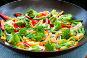 Vegetable stirfry landscape